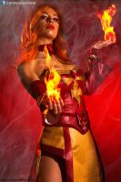 Lina on Fire by DarkTifaStrife