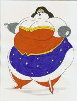 Obese Wonder Woman by Robot001