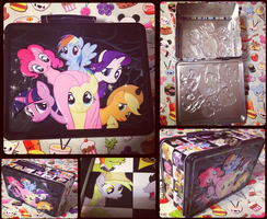 MLP-Mane 6 in The Everfree Forest Metal Lunch Box by KrazyKari