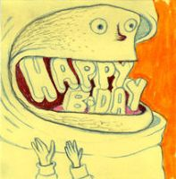 happy birthday by thepostitsproject