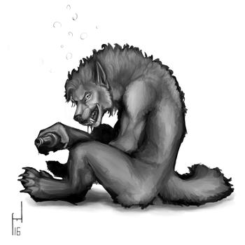2016.32 Liquor and Lycanthropy by Howlitzer