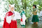 Inu Yasha - A little bath by Another-Rose