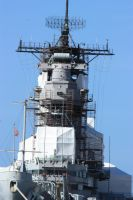 USS Missouri close up by CAStock