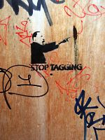 Stop Tagging Stencil by Nassi79