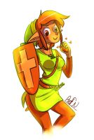 Fem!Link - Pin Up by Brellom