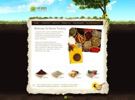 Herbs Trading webdesign by ahmedelzahra