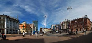 Main square Zagreb by snupi2001