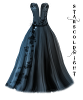 Blue and lila dress by StarsColdNight