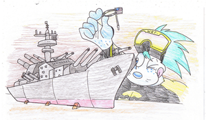 Travis And Model Navy Ship. by Virus-20