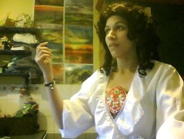 Christine Daae with Dressing gown Progress by Elfsire