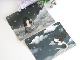 Dreaming Aspirations Postcards by yeevon