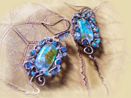 Earrings in Art Nouveau style by Tegero