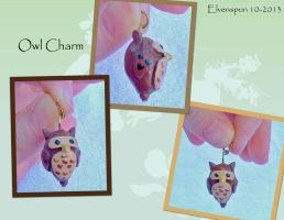 Owl Charm by MalaCembra