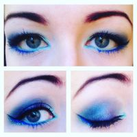 Cobalt Blue Eye Makeup by emmaghostprints