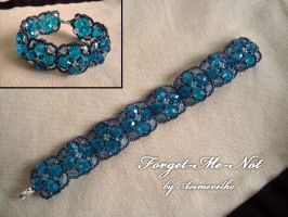 "Bracelet ""Forget-me-not"" by aoimevelho"