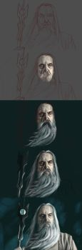 Saruman painting approach by ChrisFernzz