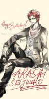 12.20 - Happy Birthday! Akashi! by saru-chikin