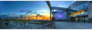 Chris Hoy Velodrome Sunset Panorama by Dr-Koesters