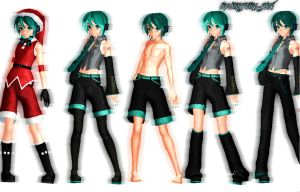 MMD NewComer:Mikuo DT Super Pack by Akisuky-san