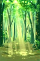 green forest by Yulcha