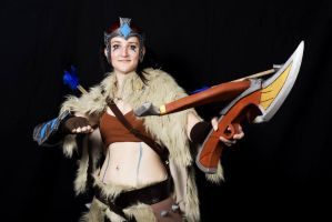 Quinn Woad Scout cosplay by analxlogik