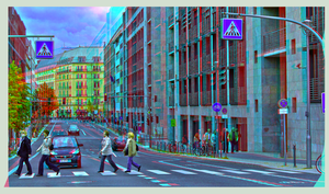 Abbey Road, Berlin 3D ::: Anaglyph HDR Stereoscopy by zour