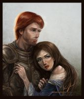 the lady and the knight by artastrophe