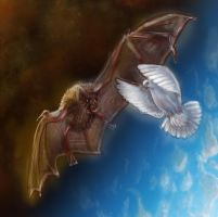 A bat and a Dove by NightWish666