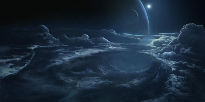 Cloudscape mattepainting by Matchack
