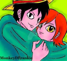 One Piece - King and Queen of the Pirates by MonkeyDFrankie