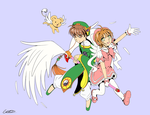Sakura and Syaoran by Pretty-Belle