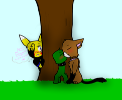 Sitting Under a Tree by SparkyChan23