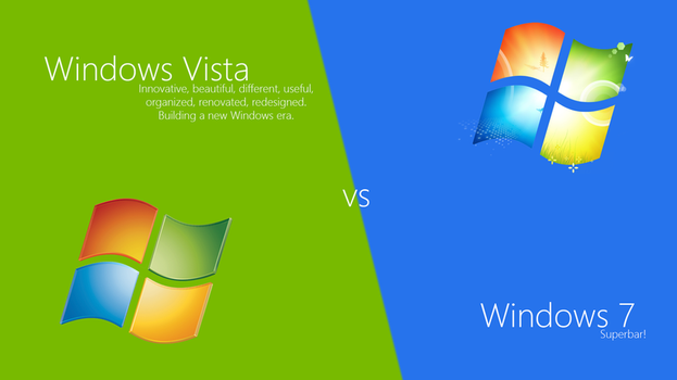 Windows Vista vs Windows 7 by SoftwarePortalPlus
