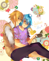 Yellow and Blue by MilkyWay-Moe
