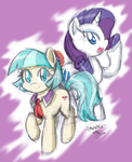 Coco Pommel And Rarity (Preview) by DANMAKUMAN