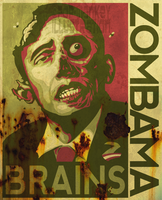 ZOMBAMA - BRAINS weathered grn by pop-monkey
