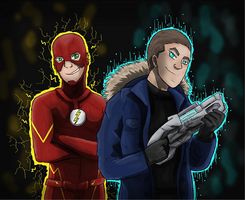 Flash and Captain Cold | Speedpaint| Troublemaker by BowtieMySoul