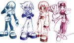 Megaman ZX characters by ColdSandwich