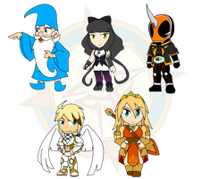 Assorted Chibis - Wizard and Ghost by Dragon-FangX
