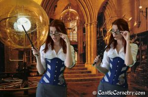 Ravenclaw Corset by CastleCorsetry