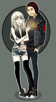 35. Commission - Lucy and Delsin by PaboNyannie