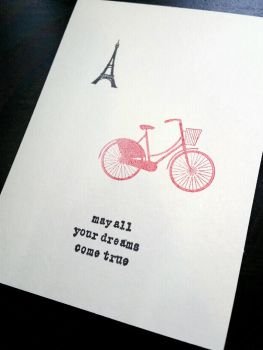 greeting card - red bike by inconsistentsea