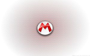 Wallpaper - Fire Mario Logo by Kalangozilla