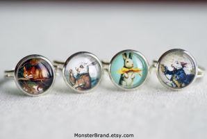Wonderland Ring Collection by foowahu-etsy