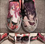 Loveless canvas slip-ons by CrimsonVip3r