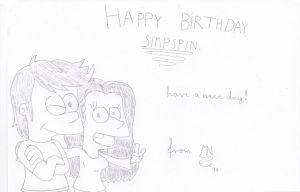 Happy B-Day,Simpspin by MrNintMan