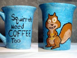 Squirrels Need Coffee Too by Artemis347