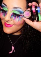 B-Slap Cosmetics Neon Makeup by anilorac186