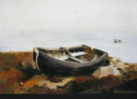 The Abandoned Skiff by Sweater