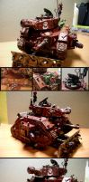 Ork Looted Demolisher tank by Snowfyre